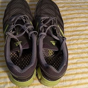 Adidas Clima cool grey and neon yellow shoes